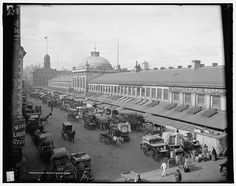 Quincy Market, Boston, Mass circa 1904
