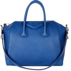 Antigona Medium Bright Blue ($2,400) ❤ liked on Polyvore featuring bags, handbags, purses, blue, givenchy, women, handbags purses, bright blue purse, handbags totes and purse pouch
