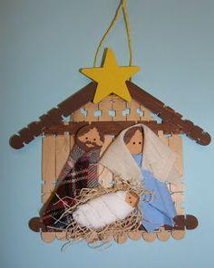 Kerststal knutselen met kleuters