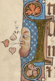 Detail from The Luttrell Psalter, British Library Add MS 42130 (medieval manuscript,1325-1340), f49v