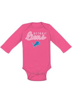 This Detroit Lions Baby Pink Big Game LS One Piece is the perfect fan essential! Rally House has a great selection of new and exclusive Detroit Lions t-shirts, hats, gifts and apparel, in-store and online. Detroit Lions T Shirts, Ford Field, Lion Hat, Big Game, Rally, Opportunity, One Piece, Fan, Store