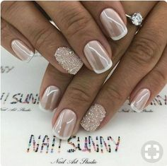 20+ Beautiful Wedding Nail Art Designs With French Style - 87Styles