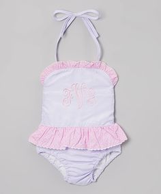 Look what I found on #zulily! Purple Stripe One-Piece Swimsuit - Infant, Toddler & Girls by Smocked or Not #zulilyfinds