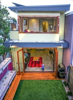 Two storey house interior design exterior contemporary with indoor outdoor living terrace house terrace house Double Story House, Two Story House Plans, Zen House, Two Storey House, Indoor Outdoor Living, Country Style Homes, House Front, Home Interior Design, Exterior