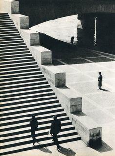 Erich Angenendt,Jena Bridge Paris, 1960. Copperplate Gravure.Source