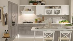 Traditional kitchen / wooden / with handles - agnese - cucine lube Cocina Shabby Chic, Contemporary Kitchen Cabinets, Cuisines Design, Traditional Kitchen, Beautiful Kitchens, Kitchen Furniture, Sweet Home, House Design, Interior Design