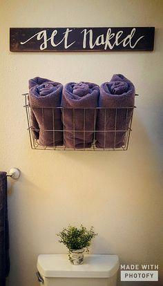 Get naked bath decor #diy #handmade #kaylynnskreations
