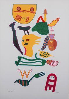Walter Battiss - Guinea Fowl
