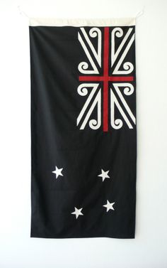 Mike Davison, NZ Flag - I love this. It has the classic flag that I love with distinct Maori elements. New Zealand Flag, New Zealand Houses, New Zealand Art, Flag Design, Design Art, Maori Words, Maori Designs, Nz Art, Maori Art