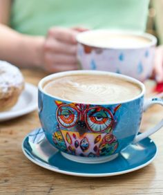 Owl and Cat Mugs by Michelle Designs
