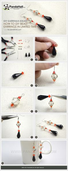 Jewelry Making Idea—How to Create DIY Earrings in Limited Time Using two large focal beads and three small ones work as paving elements, learn to diy bead earrings in very limited time. Thus, for the novices, I recommend the diy earrings ideas. Can't wait to have a try? Check the details on | http://coolearringscollections.blogspot.com