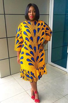 Peace Hyde in African Print dress, African fashion, Ankara, kitenge, African women dresses, African prints, African men's fashion, Nigerian style, Ghanaian fashion, ntoma, kente styles, African fashion dresses