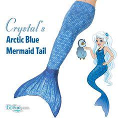 Crystal's Arctic Blue Mermaid Tail