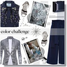 Rock This Look: Blue and Silver 2 by prigaut on Polyvore featuring TIBI, Madden Girl, Rauwolf, Lipsy and Nicki Minaj