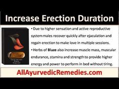 This video describes how to increase erection duration with Bluze pills and make her desire you more in bed.
