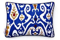 Ikat Pillow, Blue on OneKingsLane.com