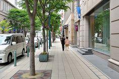 in the former foreign settlement, Kobe City, 神戸旧居留地の歩道