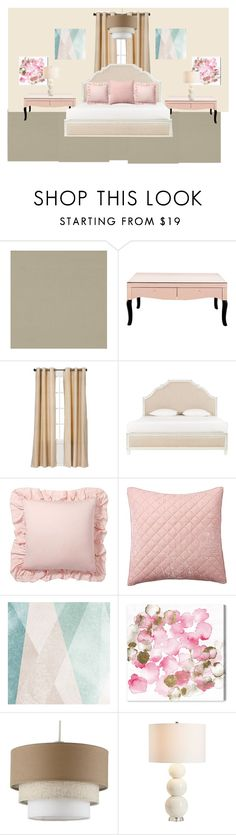"""""""Pink"""" by kaleshabarnett ❤ liked on Polyvore featuring interior, interiors, interior design, home, home decor, interior decorating, Eclipse, Pottery Barn, Sandberg Furniture and Oliver Gal Artist Co."""