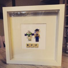 Best Friends Forever- LegoToy story 3-D #Woody and #Buzzlightyear #toystory #pixar #bestbuds #bestfriendsforever #bestfriend #home #homemade #handmade #homedecor #etsy #pictureframes #homeinspiration #lego # retro #hippster #hipster #crafty #crafts #treasures