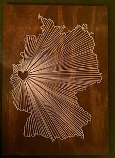 Germany String Art Made to Order Custom String Art von AMLCreative
