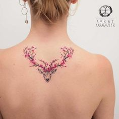 TATTOOS.ORG — Cherry Blossom Antler Tattoo Artist: KORAY •…