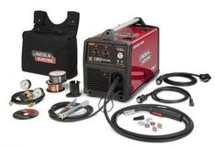This Lincoln Electric Power MIG 180 Dual MIG Wire Feed Welder with Magnum Pro Gun features diamond Core technology delivers a forgiving arc. Welding Cart, Mig Welding, Welding Table, Metal Welding, Welding Aluminum, Welded Metal Projects, Welding Projects, Diy Projects, Wire Feed Welder