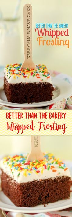 Whipped Frosting that isn't that nasty stuff full or shortening from the bakery! Whipped Frosting that isn't that nasty stuff full or shortening from the bakery! Frosting Recipes, Cupcake Recipes, Baking Recipes, Bakery Frosting Recipe, Wipped Cream Frosting, Whip Cream Frosting, Whipped Buttercream Frosting, Whipped Cream Icing, Gourmet