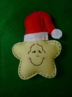 Estrelinha de Natal em feltro