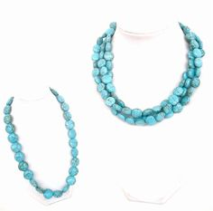 Chunky turquoise mother and daughter necklaces by BijouxDesignsStudio, $58.00