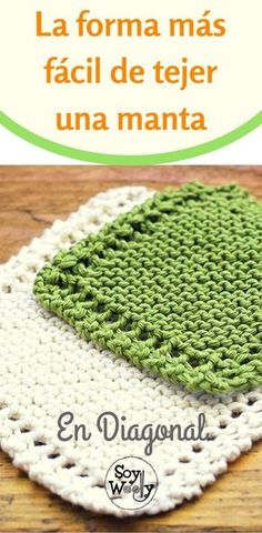 The easiest way to knit a blanket: diagonally Knitted Capelet, Knitted Blankets, Knitting Machine Patterns, Crochet Patterns, Loom Knitting, Baby Knitting, Knit Crochet, Crochet Hats, Knitting Accessories