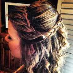 Braided half up hairstyle  Fairytale Hair and Makeup