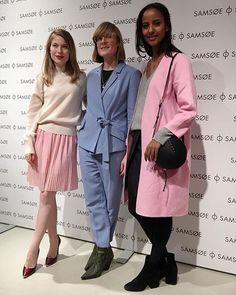 Nora von Waldstätten, Sara Nuru & Creative Director Mia Kappelgaard at last night's store opening in Berlin. #samsoesamsoe #samsøesamsøe