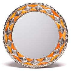 11-Inch Round Hand-carved Henna Bone Moroccan Mirror (Morocco) | Overstock.com Shopping - The Best Deals on Mirrors