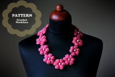 Crochet Flower Necklace  PDF Pattern by ZoomYummy on Etsy, $3.90