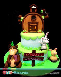 #MiercolesDeGaleria Masha y el Oso #catalogoRICORDO #pastel #fondant #fondantcake #MashayElOso