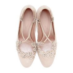 Blossom Blush Bridal shoe by Emmy Shoes exclusively in Los Angeles at The Blushing Bird