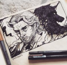 {Inktober 01} Bigby Wolf by witchpaws on DeviantArt