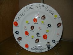Dickinson Silent Auction - March 2012 - Thumbprint Plates are Now on Display! Lathe Projects, Wood Turning Projects, Santa Crafts, Christmas Crafts For Kids, School Auction Projects, Auction Ideas, Class Projects, Fingerprint Art, Paint Your Own Pottery