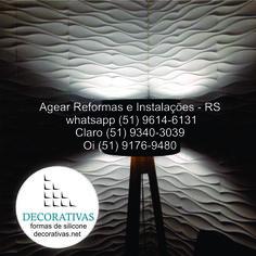 PAINÉIS DECORATIVOS EM GESSO Agora você encontra um Parceiro Vip na cidade Porto Alegre - RS #gesso3d #paineldegesso #decoraçãodeparede #formasdesilicone