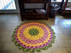Receita Tapete Circular Colorido