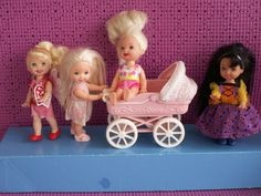 BARBIE SISTER KELLY GROUP 145 LOT OF FOUR 1996