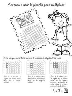 Cuaderno interactivo multiplicación - Imagenes Educativas Multiplication, Fun Math, Little Boys, Tatting, Homeschool, Diagram, Education, Facebook, Teacher Stuff