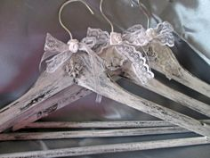 Personalized wedding shabby chic hangers, Bridesmaid gift, Custom order wedding hangers, Pale pink roses wedding hanger, Handmade hangers by VintageShabbyRustick on Etsy #bridehanger #namehanger