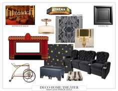 awesome inspiration for Art Deco-style home theater