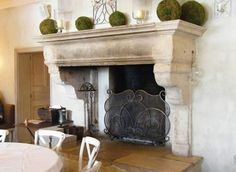 NEUTRAL HEAVEN - Interior Design and Mood Creation: French Stone Fireplaces