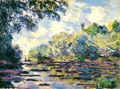 """ghostlywatcher: """"  Claude Monet """"Section of the Seine, near Giverny"""" (1885) """""""