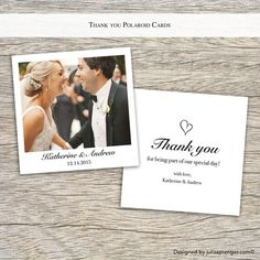 Thank you wedding cards Polaroid Style (50x) £66.70  https://www.etsy.com/uk/listing/263712445/thank-you-wedding-cards-polaroid-style?ref=shop_home_active_3