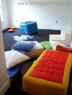 Under The Table and Dreaming: Indoor Sensory Playroom Update {Flooring & Furniture}
