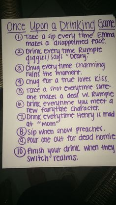 Once Upon a Time in Hollywood Drinking Game - Partypingo