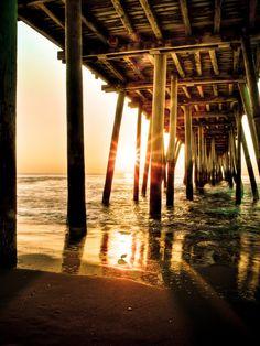 Day 177/365  Pier on the beach Virginia Beach, VA  * The straight up processing…
